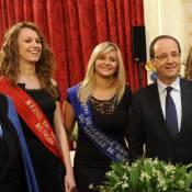 François Hollande : Entouré de reines de beauté à l'Elysée pour fêter le muguet