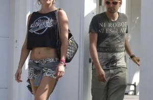 Kate Hudson : Minishort et crop top, sexy avec son chéri