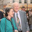 Ray Harryhausen et sa femme Diana lors du festival Jules Verne au Grand Rex de Paris, le 10 avril 2005.