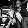 Ricky Martin prend la pose avec ses collègues de The Voice Australie : Seal, Joel Madden et Dela Goodrem.