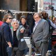 Abel Ferrara et Gérard Depardieu sur le tournage du film Welcome To New York le 25 avril 2013.