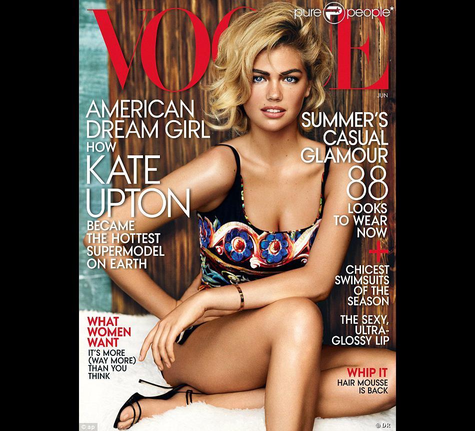 Kate Upton en couverture du Vogue USA