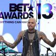 Chris Brown assiste à la conférence de presse des BET Awards à l'Icon Ultra Lounge. Los Angeles, le 14 mai 2013.