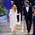 Jessica Chastain et Gian Luca Passi quittent l'hôtel Cap-Eden-Roc à Antibes, le 21 mai 2013.