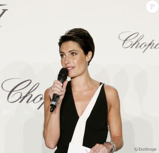 Alessandra Sublet lors de la remise du trophée Chopard à l'hôtel Martinez lors du 66e Festival de Cannes. Le 16 mai 2013