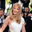 """Arielle Dombasle - Montée des marches du film """"Nebraska"""" du réalisateur Alexander Payne, présenté en compétition, lors du 66e Festival de Cannes, le 23 mai 2013."""