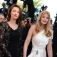 """Audrey Marnay, Arielle Dombasle et Farida Khelfa - Montée des marches du film """"Nebraska"""" du réalisateur Alexander Payne, présenté en compétition, lors du 66e Festival de Cannes, le 23 mai 2013."""