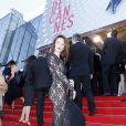 """Audrey Marnay (porte une robe Alexis Mabille) - Montée des marches du film """"Nebraska"""" du réalisateur Alexander Payne, présenté en compétition, lors du 66e Festival de Cannes, le 23 mai 2013."""