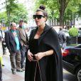 Kim Kardashian arrive au George V avec sa mère Kris Jenner. Paris, le 22 mai 2013.