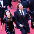 Diane de Mac-Mahon et Guillaume Durand lors de la montée des marches du film La Vénus à la fourrure au Festival de Cannes le 25 mai 2013