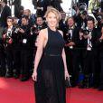Ludivine Sagnier lors de la montée des marches du film La Vénus à la fourrure au Festival de Cannes le 25 mai 2013