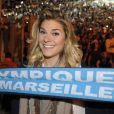 Sophie Tapie au Stade Vélodrome de Marseille pour les 20 ans de la victoire de l'OM en Ligue des Champions, le 26 mai 2013.