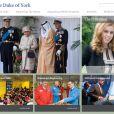 Capture d'écran de la page d'accueil du nouveau site Internet du prince Andrew, duc d'York, mis en ligne en mai 2013.