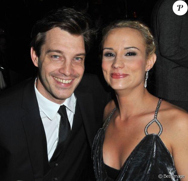 Elodie Gossuin et son mari Bertrand Lacherie lors de l'élection de Miss Prestige National 2013 au Lido à Paris le 10 décembre 2012