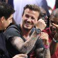 """""""David Beckham assiste au match de basket Miami Heat / Indiana Pacers à Miami le 30 mai 2013."""""""