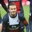 """""""David Beckham à Paris le 18 mai 2013 pour son dernier match avec le PSG."""""""