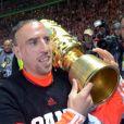 Franck Ribéry a décroché la Coupe d'Allemagne face au VfB Stuttgart le 1er juin 2013 au Stade Olympique de Berlin (3-2)