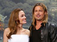 Angelina Jolie, divine à 38 ans: Robe bustier et regards amoureux avec Brad Pitt