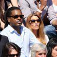 Anthony Kavanagh et sa femme Alexandra lors du quart de finale entre Jo-Wilfried Tsonga et Roger Federer (7-5, 6-3, 6-3) le 4 juin 2013 à Roland-Garros