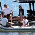 Le milliardaire russe Vladimir Doronin et sa nouvelle compagne Luo Zilin en vacances à Ibiza le 03/06/2013