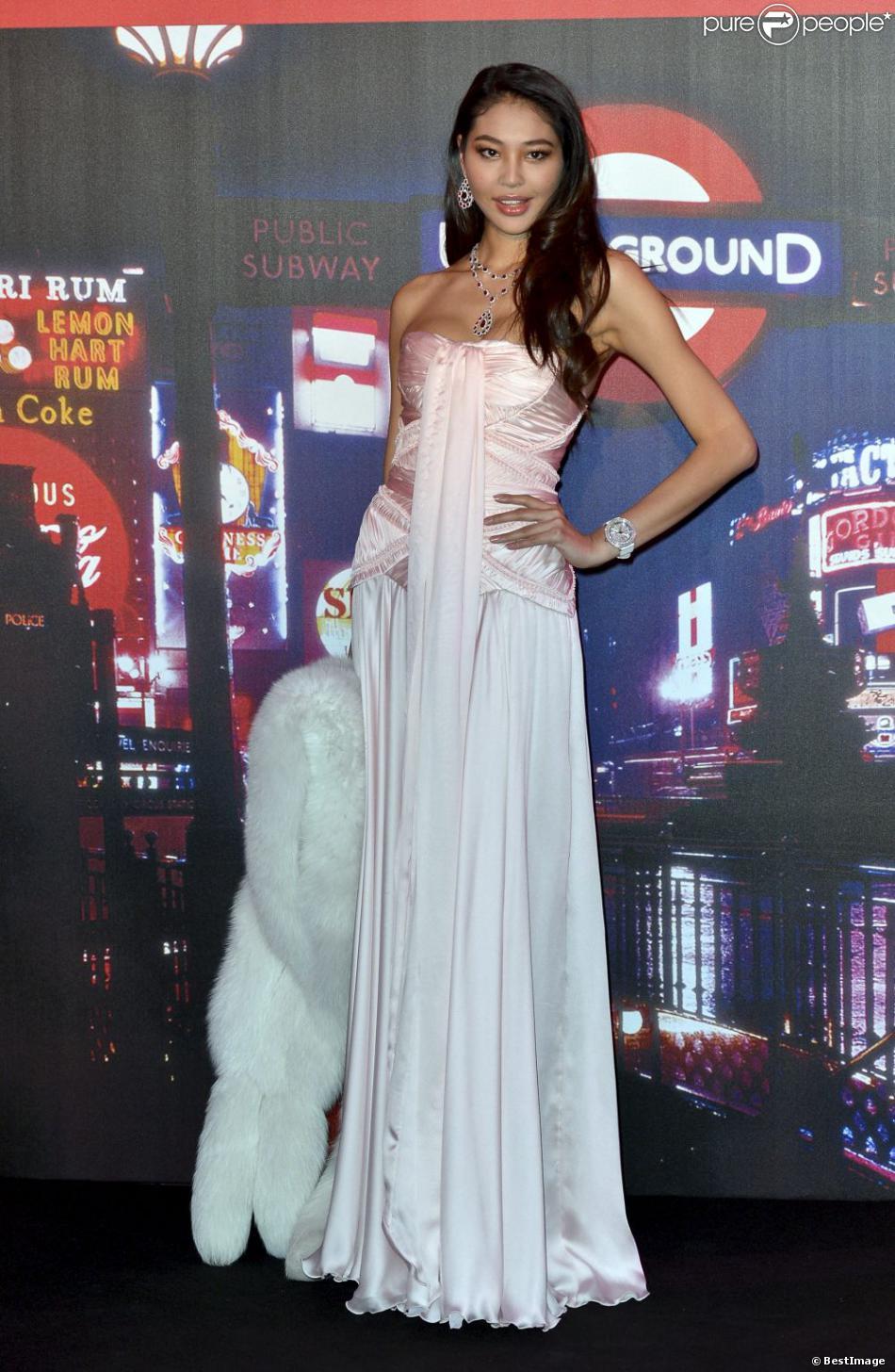 Luo Zilin, Miss Chine 2011 en mars 2012 lors du Bal de la Rose à Monaco