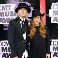 Lisa Marie Presley et son mari Michael Lockwood à la cérémonie des CMT Music Awards à Nashville, le 5 juin 2013.