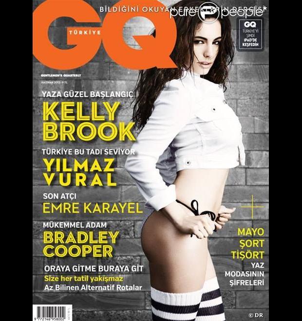 Kelly Brook en couverture de l'édition turque du magazine GQ. Juin 2013.