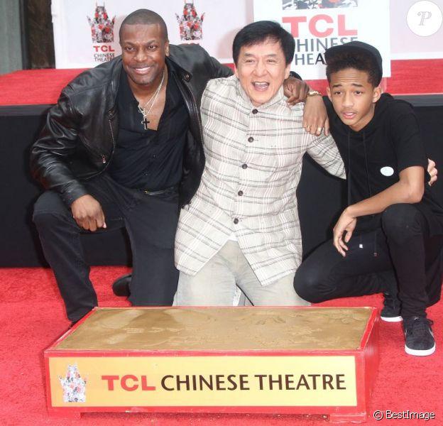 Chris Tucker, Jackie Chan et Jaden Smith à Hollywood, le 6 juin 2013.