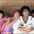 Enrico Macias et Suzy à Saint-Tropez, le 12 juillet 1978.