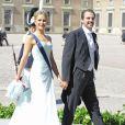 La princesse Tatiana et le prince Nikolaos de Grèce au mariage de la princesse Madeleine de Suède et de Chris O'Neill au palais royal à Stockholm le 8 juin 2013.