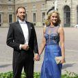 Invités au mariage de la princesse Madeleine de Suède et de Chris O'Neill au palais royal à Stockholm le 8 juin 2013.
