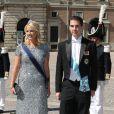 Theodora et Philippos de Grèce au mariage de la princesse Madeleine de Suède et de Chris O'Neill au palais royal à Stockholm le 8 juin 2013.