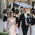 Le prince Joachim et la princesse Marie de Danemark au mariage de la princesse Madeleine de Suède et de Chris O'Neill au palais royal à Stockholm le 8 juin 2013.