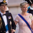 Le prince Edward et la comtesse Sophie au mariage de la princesse Madeleine de Suède et de Chris O'Neill au palais royal à Stockholm le 8 juin 2013.