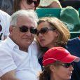 Dominique Strauss-Kahn et sa girlfriend Myriam L'Aouffir lors de la finale dames à Roland-Garros le 8 juin 2013.