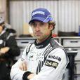 Patrick Dempsey toujours séduisant mais anxieux aux 24 heures du Mans, le 9 juin 2013.
