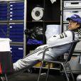 Patrick Dempsey se repose aux 24 heures du Mans, le 9 juin 2013.