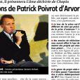"""La coquille du journal régional """"La Montagne"""" qui renomme Patrick Poivre d'Arvor en Patrick """"Poivrot"""" d'Arvor le 11 juin 2013."""