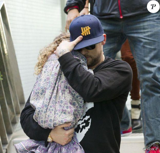Joel Madden et sa fille Harlow à Sydney, le 15 mai 2013.