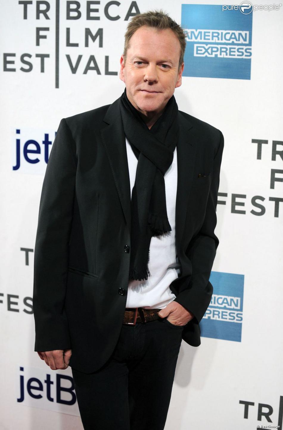 Kiefer Sutherland à la première de The Reluctant Fundamentalist lors du festival de Tribeca à New York, le 22 avril 2013.