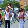 Matthew McConaughey, sa femme Camila et leurs enfants Levi et Vida. Le 22 juillet à New York.