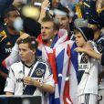 David Beckham pose avec ses fils Brooklyn, Cruz et Romeo lors de ses adieux à son club des 'LA Galaxy' apres leur victoire à Carson, USA le 1er décembre 2012.