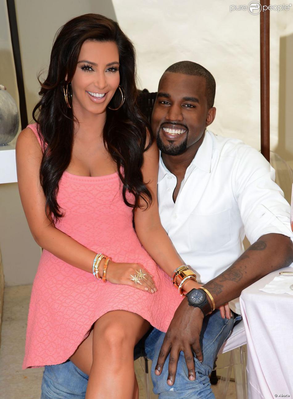 Kim Kardashian et Kanye West à Los Angeles, en mai 2012.