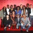 Marguerite Abouet, Aïssa Maiga, Clément Oubrerie et l'équipe du film lors de la présentation du film Aya de Yopougon dans le cadre du Champs-Elysées Film Festival le 17 juin 2013