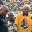 Jacob Zuma, président de l'Afrique du Sud et Nelson Mandela à Johannesburg, le 19 avril 2009.