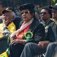 Nelson Mandela et son ex-femme Winnie Madikizela-Mandelaà Johannesburg, le 19 avril 2009.