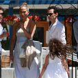 Jennifer Lopez et  Marc Anthony vont chercher leurs enfants à l'école, à Los Angeles, le 19 juin 2013.