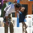 Jennifer Lopez et son ex-mari Marc Anthony vont chercher leurs jumeaux à l'école, à Los Angeles, le 19 juin 2013.