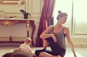 Gisele Bündchen : Sa fille Vivian, 6 mois, déjà initiée au yoga !