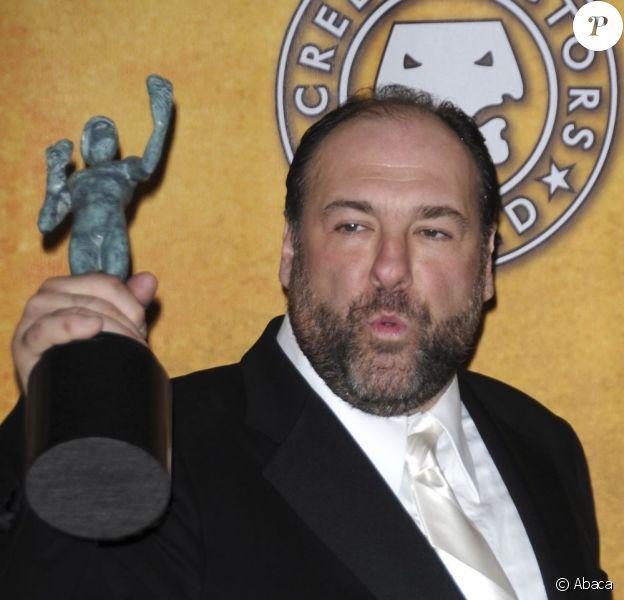 James Gandolfini aux Screen Actors Guild Awards le 27 janvier 2008.